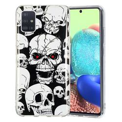 Red-eye Ghost Skull Noctilucent Soft TPU Back Cover for Samsung Galaxy A71 5G