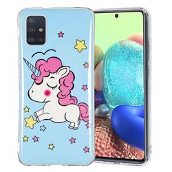 Stars Unicorn Noctilucent Soft TPU Back Cover for Samsung Galaxy A71 5G