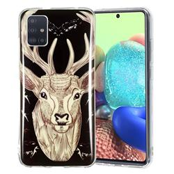 Fly Deer Noctilucent Soft TPU Back Cover for Samsung Galaxy A71 5G