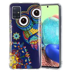 Tribe Owl Noctilucent Soft TPU Back Cover for Samsung Galaxy A71 5G