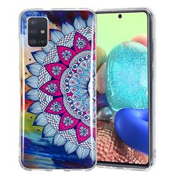 Colorful Sun Flower Noctilucent Soft TPU Back Cover for Samsung Galaxy A71 5G
