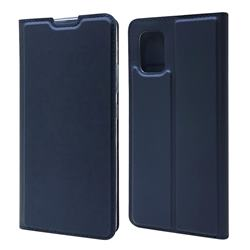 Ultra Slim Card Magnetic Automatic Suction Leather Wallet Case for Samsung Galaxy A71 5G - Royal Blue