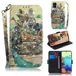 Beast Zoo 3D Painted Leather Wallet Phone Case for Samsung Galaxy A71 5G