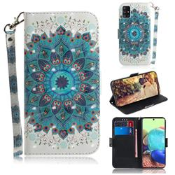 Peacock Mandala 3D Painted Leather Wallet Phone Case for Samsung Galaxy A71 5G