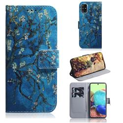 Apricot Tree PU Leather Wallet Case for Samsung Galaxy A71 5G