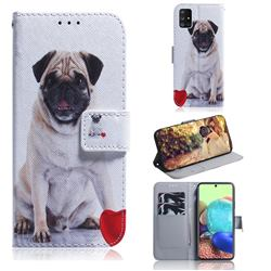 Pug Dog PU Leather Wallet Case for Samsung Galaxy A71 5G