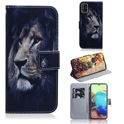 Lion Face PU Leather Wallet Case for Samsung Galaxy A71 5G