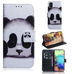 Sleeping Panda PU Leather Wallet Case for Samsung Galaxy A71 5G