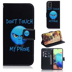 Not Touch My Phone PU Leather Wallet Case for Samsung Galaxy A71 5G