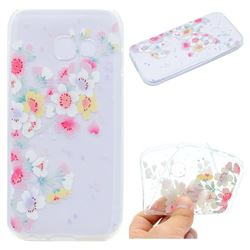 Peach Super Clear Soft TPU Back Cover for Samsung Galaxy A7 2017 A720