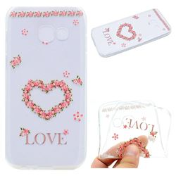 Heart Garland Super Clear Soft TPU Back Cover for Samsung Galaxy A7 2017 A720