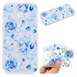 Ice Rose Super Clear Soft TPU Back Cover for Samsung Galaxy A7 2017 A720