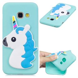 Blue Hair Unicorn Soft 3D Silicone Case for Samsung Galaxy A7 2017 A720