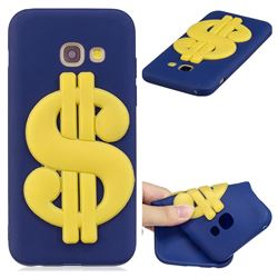 US Dollars Soft 3D Silicone Case for Samsung Galaxy A7 2017 A720