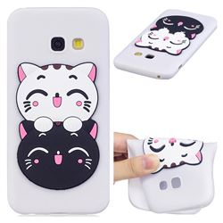 Couple Cats Soft 3D Silicone Case for Samsung Galaxy A7 2017 A720