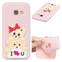 Love Bear Soft 3D Silicone Case for Samsung Galaxy A7 2017 A720