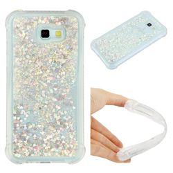 Dynamic Liquid Glitter Sand Quicksand Star TPU Case for Samsung Galaxy A7 2017 A720 - Silver