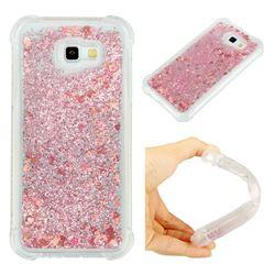 Dynamic Liquid Glitter Sand Quicksand Star TPU Case for Samsung Galaxy A7 2017 A720 - Diamond Rose