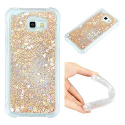 Dynamic Liquid Glitter Sand Quicksand Star TPU Case for Samsung Galaxy A7 2017 A720 - Diamond Gold