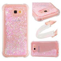 Dynamic Liquid Glitter Sand Quicksand TPU Case for Samsung Galaxy A7 2017 A720 - Silver Powder Star