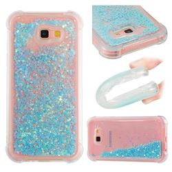 Dynamic Liquid Glitter Sand Quicksand TPU Case for Samsung Galaxy A7 2017 A720 - Silver Blue Star