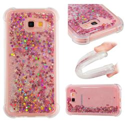 Dynamic Liquid Glitter Sand Quicksand TPU Case for Samsung Galaxy A7 2017 A720 - Rose Gold Love Heart