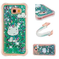 Tiny Unicorn Dynamic Liquid Glitter Sand Quicksand Star TPU Case for Samsung Galaxy A7 2017 A720