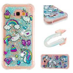 Fashion Unicorn Dynamic Liquid Glitter Sand Quicksand Star TPU Case for Samsung Galaxy A7 2017 A720