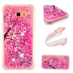 Pink Cherry Blossom Dynamic Liquid Glitter Sand Quicksand Star TPU Case for Samsung Galaxy A7 2017 A720