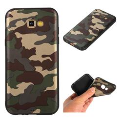 Camouflage Soft TPU Back Cover for Samsung Galaxy A7 2017 A720 - Gold Green