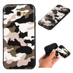 Camouflage Soft TPU Back Cover for Samsung Galaxy A7 2017 A720 - Black White