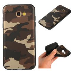 Camouflage Soft TPU Back Cover for Samsung Galaxy A7 2017 A720 - Gold Coffee