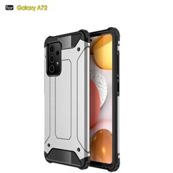 King Kong Armor Premium Shockproof Dual Layer Rugged Hard Cover for Samsung Galaxy A72 5G - White