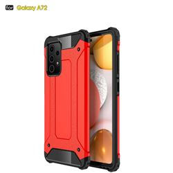 King Kong Armor Premium Shockproof Dual Layer Rugged Hard Cover for Samsung Galaxy A72 5G - Big Red