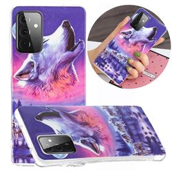 Wolf Howling Noctilucent Soft TPU Back Cover for Samsung Galaxy A72 5G