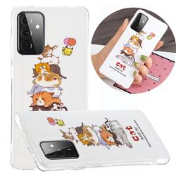 Cute Cat Noctilucent Soft TPU Back Cover for Samsung Galaxy A72 5G