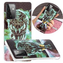 Wolf King Noctilucent Soft TPU Back Cover for Samsung Galaxy A72 5G
