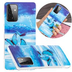 Flying Butterflies Noctilucent Soft TPU Back Cover for Samsung Galaxy A72 5G
