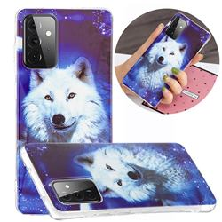 Galaxy Wolf Noctilucent Soft TPU Back Cover for Samsung Galaxy A72 5G