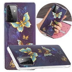Golden Butterflies Noctilucent Soft TPU Back Cover for Samsung Galaxy A72 5G