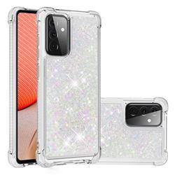 Dynamic Liquid Glitter Sand Quicksand Star TPU Case for Samsung Galaxy A72 (4G, 5G) - Pink