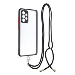 Necklace Cross-body Lanyard Strap Cord Phone Case Cover for Samsung Galaxy A72 (4G, 5G) - Black