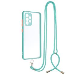 Necklace Cross-body Lanyard Strap Cord Phone Case Cover for Samsung Galaxy A72 (4G, 5G) - Blue