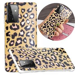 Leopard Galvanized Rose Gold Marble Phone Back Cover for Samsung Galaxy A72 5G