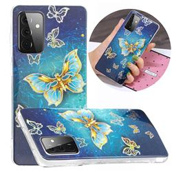 Golden Butterfly Painted Galvanized Electroplating Soft Phone Case Cover for Samsung Galaxy A72 5G