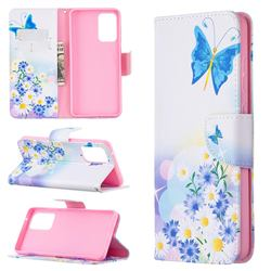 Butterflies Flowers Leather Wallet Case for Samsung Galaxy A72 (4G, 5G)