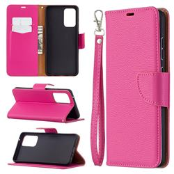 Classic Luxury Litchi Leather Phone Wallet Case for Samsung Galaxy A72 (4G, 5G) - Rose