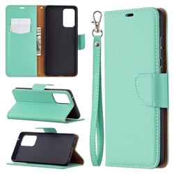 Classic Luxury Litchi Leather Phone Wallet Case for Samsung Galaxy A72 (4G, 5G) - Green