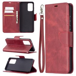 Classic Sheepskin PU Leather Phone Wallet Case for Samsung Galaxy A72 (4G, 5G) - Red