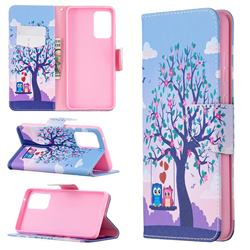 Tree and Owls Leather Wallet Case for Samsung Galaxy A72 (4G, 5G)